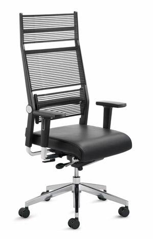 Dauphin lordo npr bureaustoel hoge rug