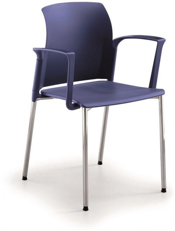 A20-kunststof-koppelbare-en-stapelbare-stoel-met-armleggers