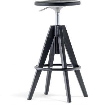 Arki-kruk-frame-hout-eiken-en-metaal-gaslift-hoogte-verstelbaar-65-75-cm-fsc-100-gecertificeerd