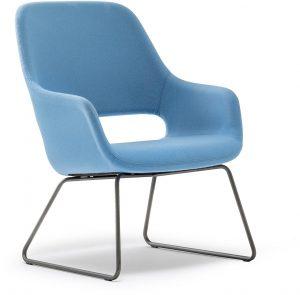 Armfauteuil-babila-comfort-2749-gestoffeerde-loungestoel-met-metalen-slede-frame