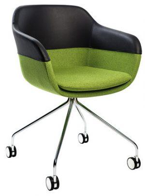 Brunner crona 6363a stoel met wieltjes