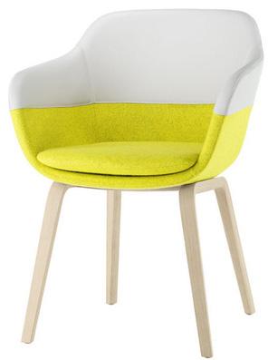 Brunner crona 6367a stoel met houten poten