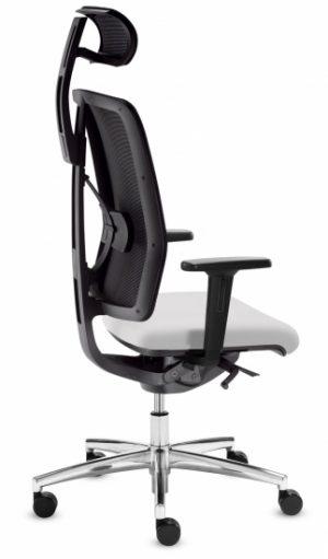 Dauphin dat-o hoge netrug bureaustoel met neksteun