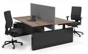 Flex 3 elektrisch verstelbaar zit-sta bench wang bureau